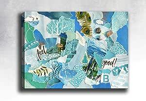 博纳马作品帆布画,多色,30x40