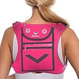 男式和女式跑步迷你背包背心 - 完全反光,可放置配件和任何 iPhone、Android 手机、iPad Mini…