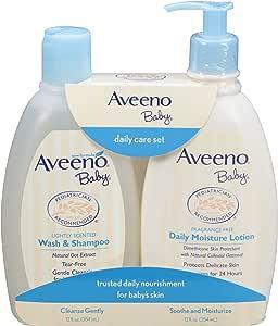 Aveeno 艾惟诺 温和保湿日常护理套装 天然燕麦提取物 天然胶体燕麦片 2件
