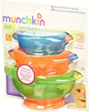Munchkin 满趣健 可留在原处带吸盘的碗,3件