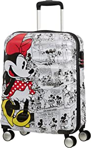 American Tourister 迪士尼Wavebreaker Spinner Mickey + Minnie Minnie Comics White 55 cm