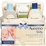 Aveeno 艾惟诺 婴儿基础日用护理 宝宝&妈妈礼品套装,具有多种护肤和沐浴产品,可滋养婴儿和呵护妈妈,为新妈妈和准妈妈提供婴儿礼物,6件