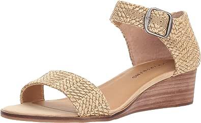 Lucky Brand 女士 Riamsee 坡跟凉鞋 天然 7 M US