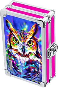 "Vaultz Locking 3D Supply Box, 5""x2.5""x8.5"", Owl (VZ03670)"