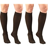 Truform Compression for Women 15-20 mmHg Socks Brown Rib Pattern Small (Pack of 2) 2