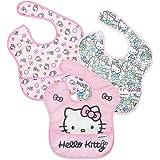 Bumkins Hello Kitty SuperBib婴儿围嘴,防水,可水洗,耐污渍和防臭,6-24个月,3件