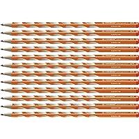 Stabilo EASYgraph S 修身三角形铅笔 适合右手 HB 硬度 12er Pack 橙色