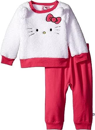 Hello Kitty Baby Baby Girls' Plush Pant Set, Sugar Plum, 18 Months