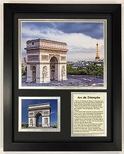 Legends Never Die Arc De Triumph 带框双层哑光照片,30.48 厘米 x 38.10 厘米