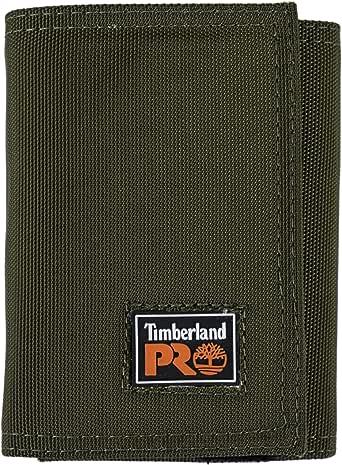 Timberland PRO 男士 Cordura 尼龙 RFID 三折钱包,带身份证窗口
