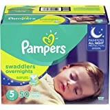 Pampers Swaddlers 夜间尿布 5 码 5 50