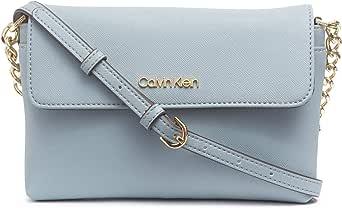 Calvin Klein Key Item Saffiano 翻盖链条斜挎包