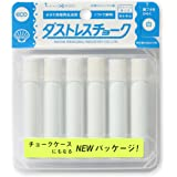 Rikagaku White Dustless Chalk, 6-Pieces (DCC-6-W)