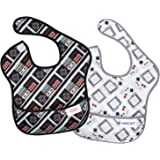 Bumkins Nintendo Waterproof SuperBib 2 Pack, NES (Controller/Game Boy) (6-24 Months)