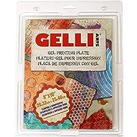 Gelli Arts 出品的凝胶印刷板印制令人惊叹的图片,可向朋友展示,20.32x25.40 cm 正方形