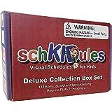 SchKIDules 153 Pc 完整系列组合套装,适用于视觉日程安排,儿童日历和行为图表:132 家庭,学校和特殊需求主题活动磁铁加 21 个头部磁铁(*二版)