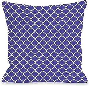 OBC Bentin 家居装饰围栏户外抱枕 Fence - Purple 18x18 Pillow Outdoor 10641PL18O