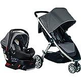 Britax B-Lively 轻质婴儿车,乌鸦单手,轻松折叠+无限躺椅+前置存储+躲猫窗口, 鸽子 TS B-Safe…