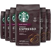 Starbucks 星巴克 浓咖啡 碳烤全豆咖啡, 12-Ounce 每包(340g) ( 6包)