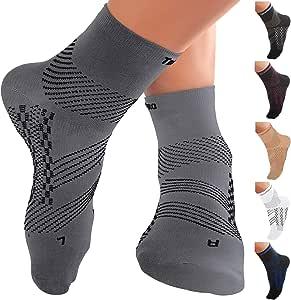 TechWare 专业护踝压力袜 - 足底*缓解*袜,带足弓支撑。 脚套缓解跟腱*和脚跟*。 女士和男士。 日常使用和受伤恢复