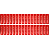 """New""""Red"""" Panasonic Eneloop 32 Pack AA NiMH Pre-Charged Rechargeable Batteries -PLUS BATTERY HOLDER- Rechargeable 2100 times"""