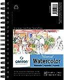 "Canson 艺术家系列水彩垫侧线 白色 5.5"" x 8.5"" 400059878"