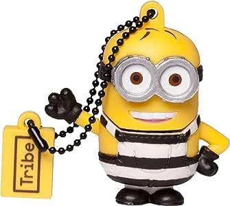 Tribe Minions 卑鄙的 USB 笔驱动 USB *棒闪存盘,创意礼品 3D 人物,PVC USB 小工具带钥匙扣钥匙圈