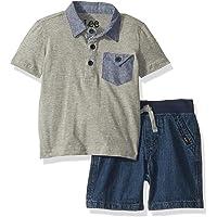 LEE 男婴短袖衬衫和短裤套装