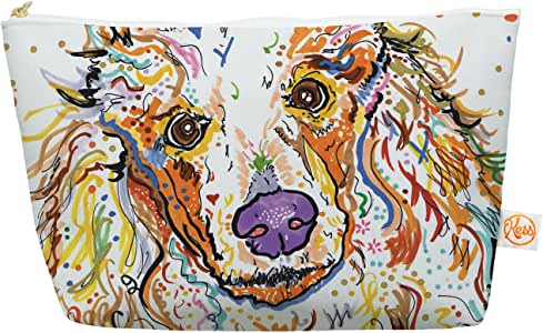 "Kess InHouse Everything Bag,锥形袋,Rebecca Fischer""Lily"" 贵宾犬,21.59 x 10.16 cm (RF1013AEP03)"