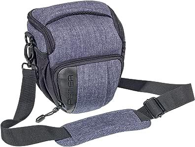 PEDEA SLR Camera Bag For Sony SLT-A58K/-A58Y with Fashion Design/Canon EOS 1100D/Nikon Coolpix 80D P900/Panasonic Lumix DMC-FZ1000with Screen Protector