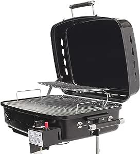 Flame King 房车或拖车安装 BBQ - 房车燃气烧烤架 黑色 YSNHT500