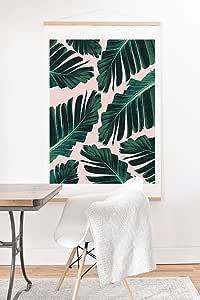 Society6 Anita Bella Jantz 热带香蕉叶梦想 1 艺术印刷品和挂钩,76.2 厘米 x 76.2 厘米,*