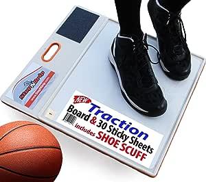 Stepngrip Courtside Shoe Grip 抓地板 - 包括 30 张粘性板和鞋子磨损 - 允许球场抓住篮球排球。 粘性停止电源
