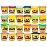 Hasbro 孩之宝 Play-Doh 培乐多 复合24色彩盒,无害,多色,3盎司(约85.05克),罐装,适合2岁及以…