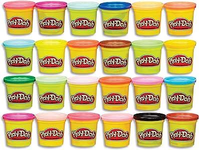 Hasbro 孩之宝 Play-Doh 培乐多 复合24色彩色建模包装盒,无害,多色,罐装,3盎司(约85.05克),适合2岁及以上的人群,多色