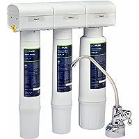 EcoPure 水池下净水器净水系统 (ECOP40) | NSF 认证 | *饮用水 从您的厨房水槽上开始使用