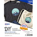 Avery inkjet iron-on 深色 T 恤传输白色 Five 张每包 (03279)