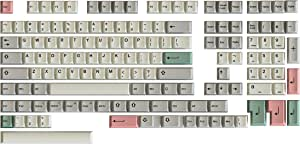 HK 游戏染料升华键帽   樱桃轮廓   适用于机械键盘的厚 PBT 键组hk_dye_9009_139  139 Keys