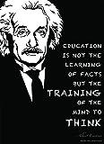 艾伯特·爱因斯坦海报(18X24 层压)艾伯特·爱因斯坦语录制作美丽的科学装饰 - 课堂或办公室科学海报