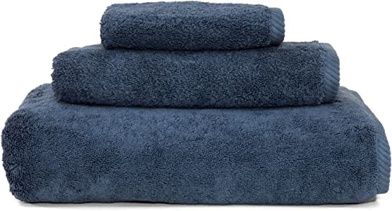 Linum Home Textiles Collection 3-Piece Soft Twist Combination Towels Set, Midnight Blue