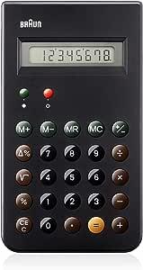 Braun 博朗 BNE 001 BK 小型计算器,DIETER RAMS,8位LCD显示屏,包括硬壳滑盖,黑色