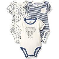 自然 touched 天然婴儿有机棉连体衣3个装