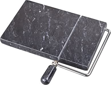 创意家居黑色大理石8X 5英寸 奶酪切片器 黑色 5 英寸长 x 8 英寸宽