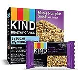 KIND Healthy Grains Bars, Maple Pumpkin Seeds with Sea Salt, Gluten Free, 1.2oz Bars, 40 Count