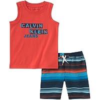 Calvin Klein 卡尔文·克莱恩 男童 2件装 无袖上衣与短裤套装