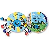 Melissa & Doug 美国玛莉莎 布制软质活动书 Itsy-Bitsy蜘蛛 原创 (互动式婴儿布书,送给男孩和女孩的上佳礼物–非常适合婴儿,学步儿童和所有年龄段的孩子)