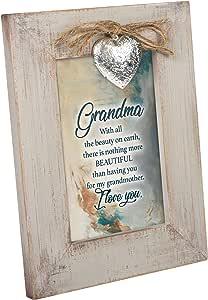Cottage Garden Loved Family Member 做旧小盒式画架背面相框 Grandma Nothing More Beautiful 8.5 x 6.5 LF95N