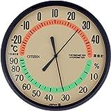 西铁城 温度计 ・湿度计 类似物 固定类型 TM-42 CITIZEN 茶色 9CZ013-006