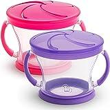 Munchkin 2 件装零食收集器 粉色/紫色