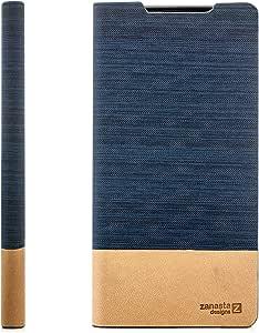 索尼 Xperia XA 保护套翻盖【zanasta 设计】优质手机钱包带卡槽【超薄设计】,可折叠支架,牛仔风格4251256748437 深蓝色